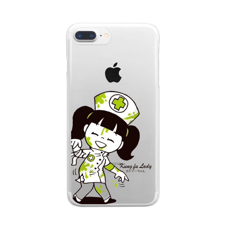 Sunny Place 今瀬のりおのナースゾンビ カンフーちゃん Clear smartphone cases