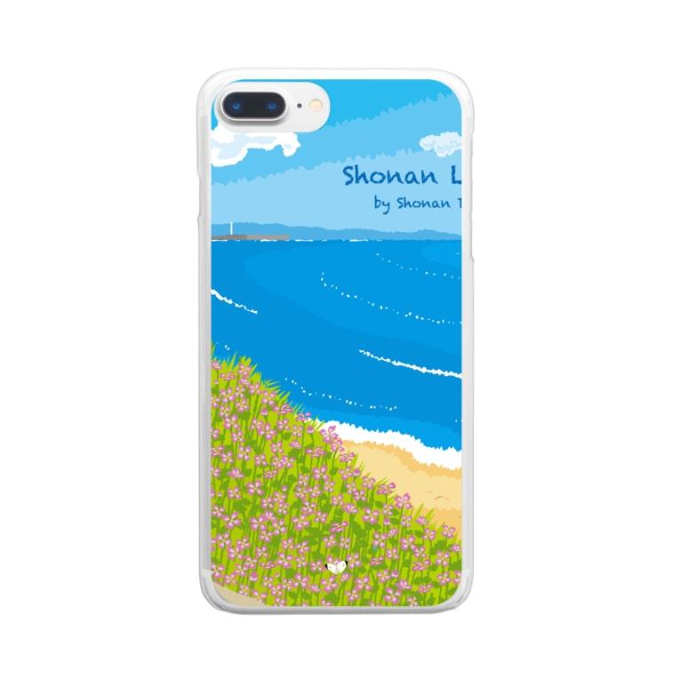 湘南デザイン室:Negishi Shigenoriの湘南ランドスケープ08:海辺のハマダイコン Clear smartphone cases
