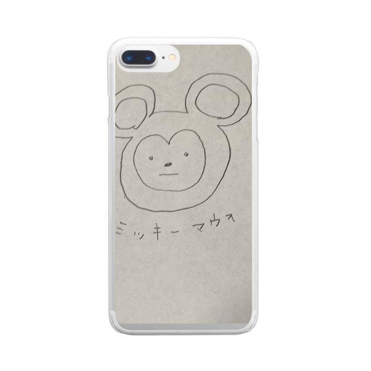 Niwのミッキーマウヲ Clear smartphone cases