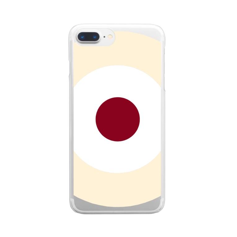 CORONET70のサークルa・クリーム2・白・チョコ Clear smartphone cases