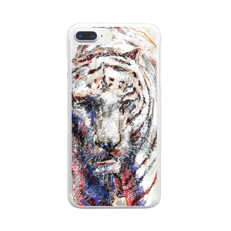 guru.glicoのホワイトタイガー_No.001 Clear smartphone cases