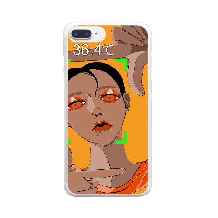 HIRAのサーモマネージャー 36.4℃ Clear smartphone cases