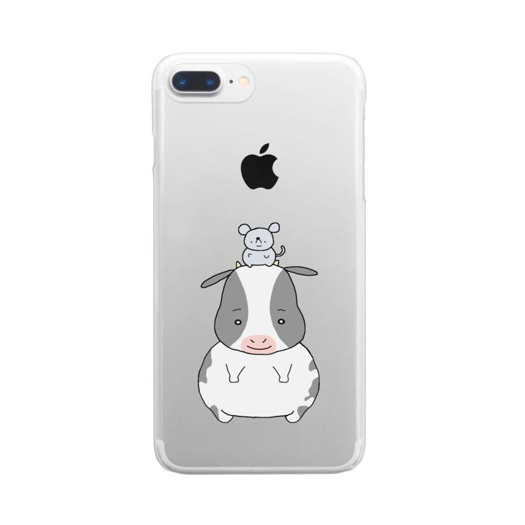 TSUNETANのネズミとウシ Clear Smartphone Case