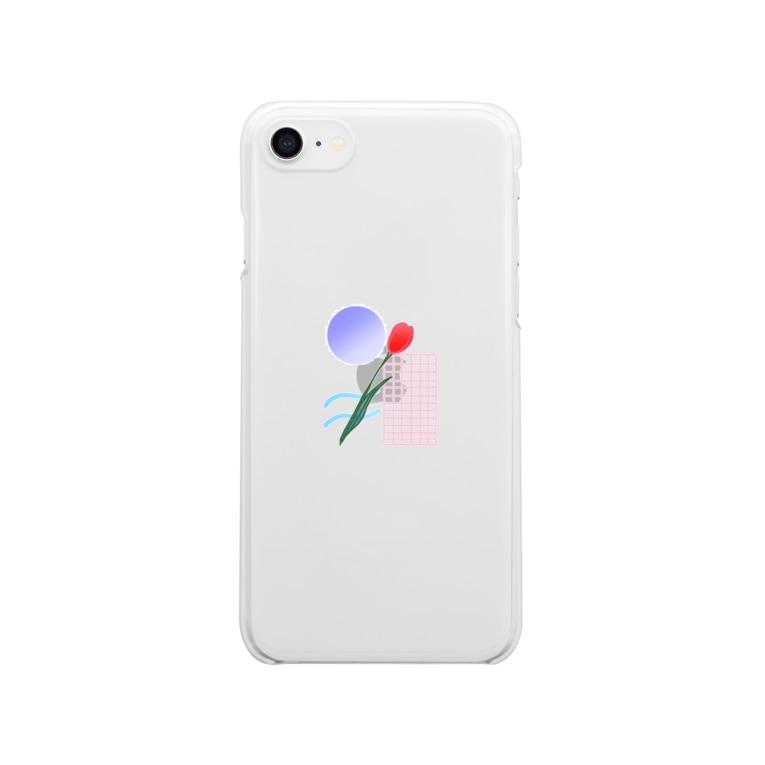 nm.のチューリップ Clear smartphone cases