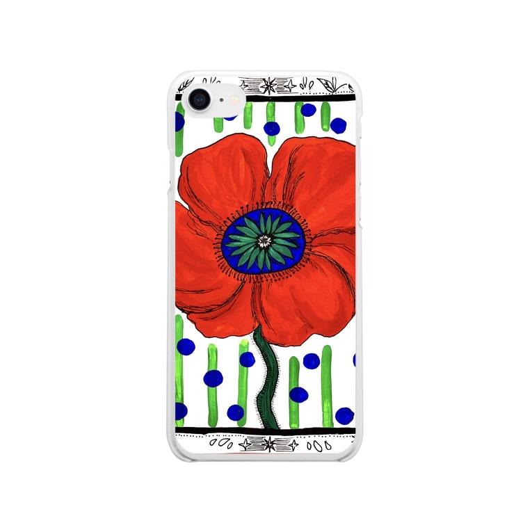 ManaOsawaのポピー ドット Clear smartphone cases