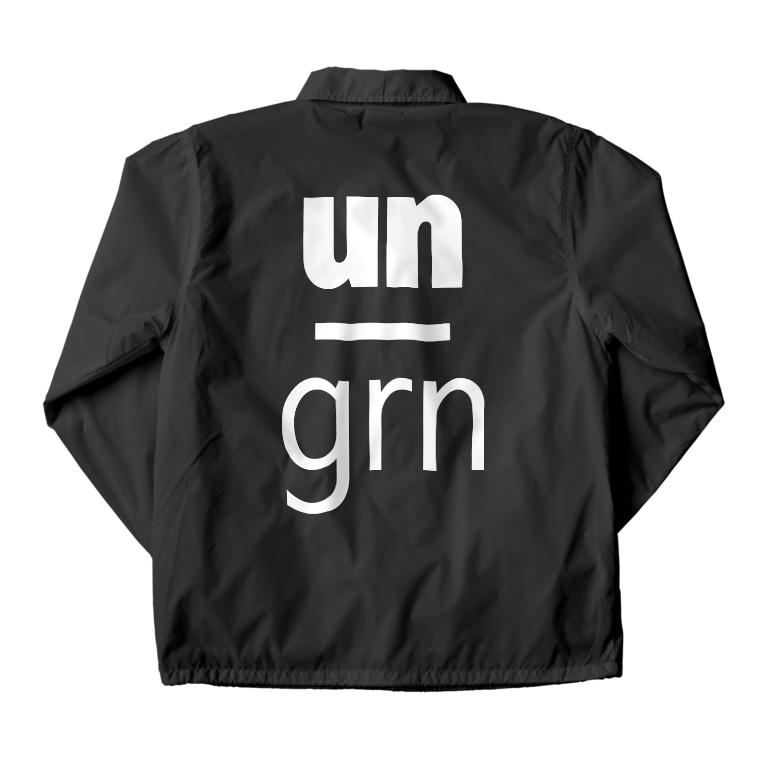 un_grn (月刊アングラ)のunder_ground【前】/un_grn【背】: CJ Coach Jacketの裏面