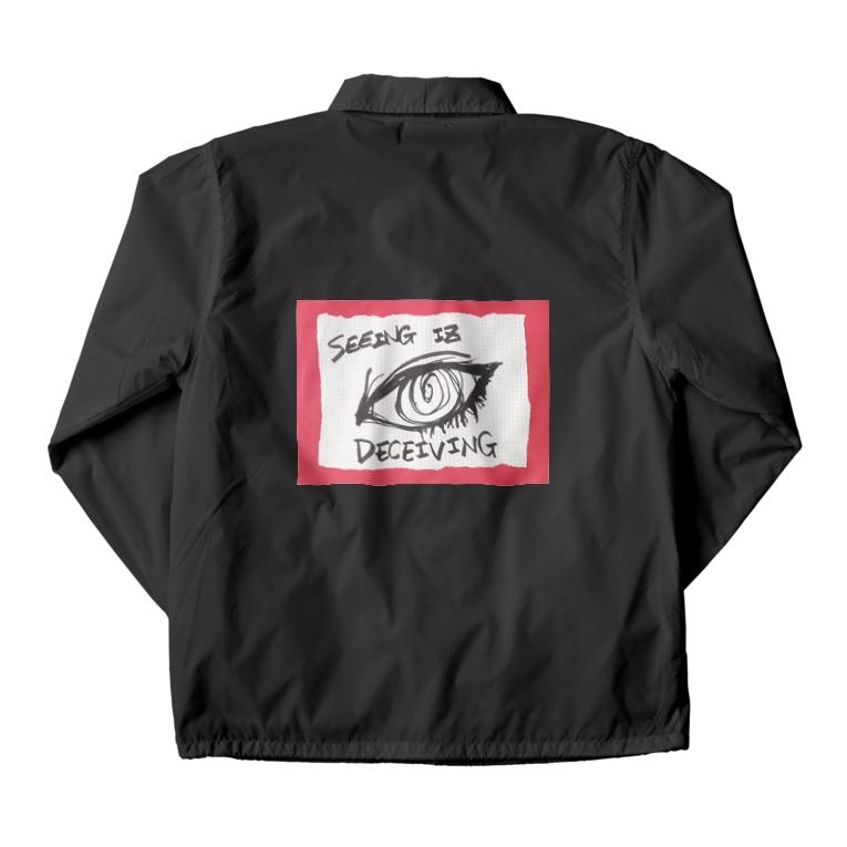 LUNARHOLIC STOREの偽諺~参~「百聞は一見に如く」(赤縁) Coach Jacket