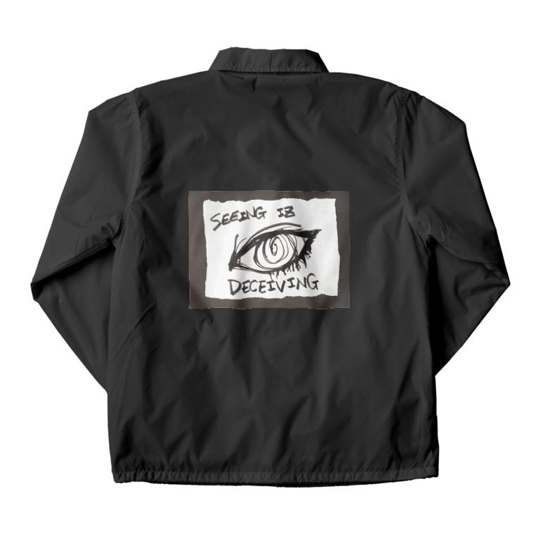LUNARHOLIC STOREの偽諺~参~「百聞は一見に如く」(黒縁) Coach Jacket