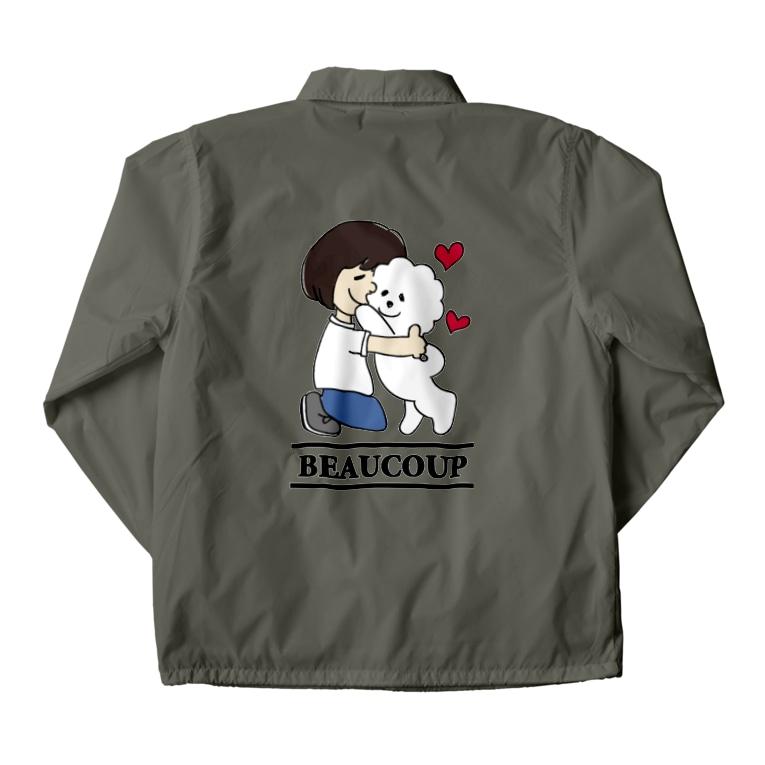 Funny Mill SUZURI店の抱っこワンコ Coach Jacket