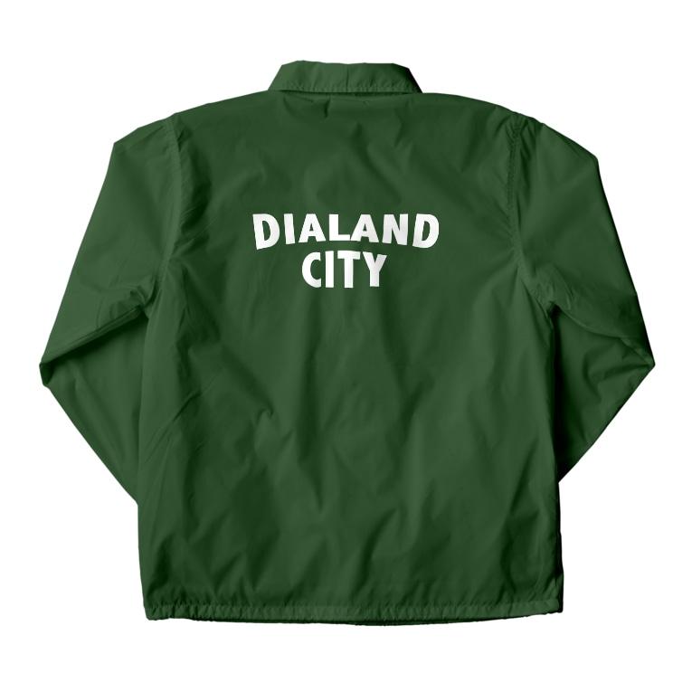 DIALAND LOVERSのDIALAND CITY WHITE Coach Jacketの裏面