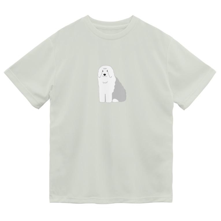 yuitakのオールドイングリッシュシープドッグ Dry T-Shirt