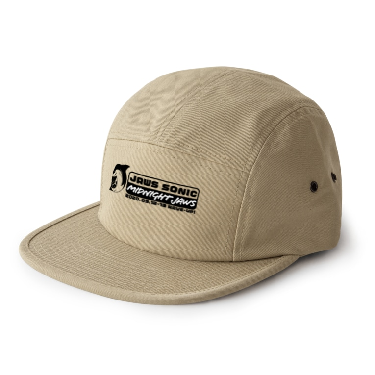 JAWS SONIC & MIDNIGHT JAWS 2020 グッズ販売のJAWS SONIC & MIDNIGHT JAWS 2020 白黒ロゴアイテム  5 panel caps
