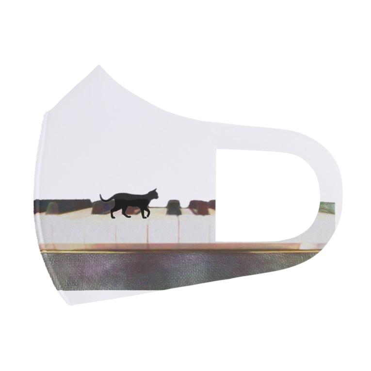 musicshop BOBのネコトピアノ - cat and piano Full Graphic Mask