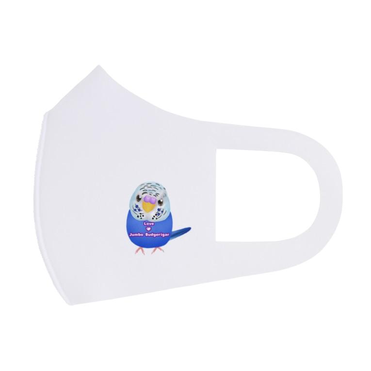Lily bird(リリーバード)のうるうるジャンボ ロゴ入り② Full Graphic Mask