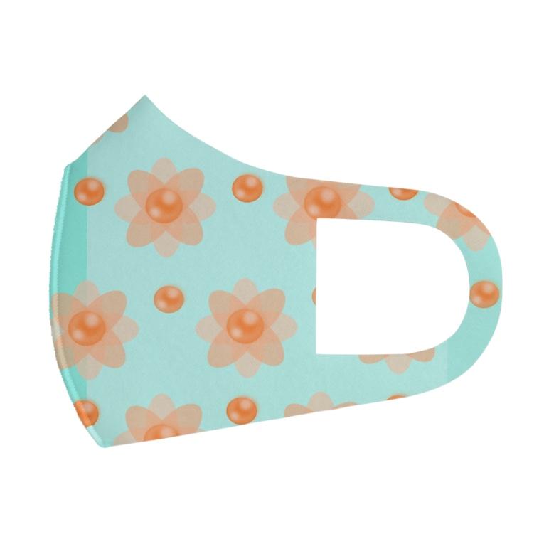 pupy.styleのレトロな春の香りB Full Graphic Mask