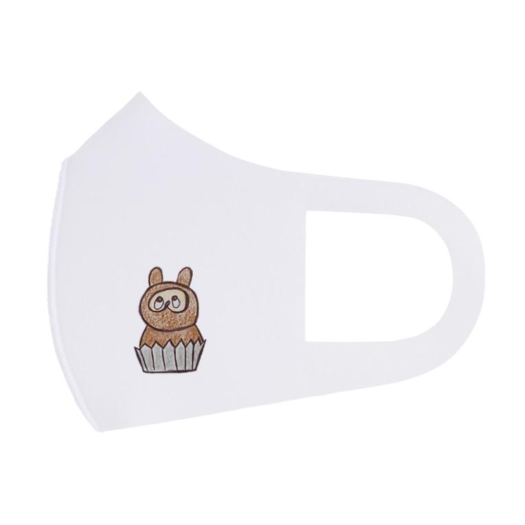 kohazouのたぬきのケーキ Full Graphic Mask
