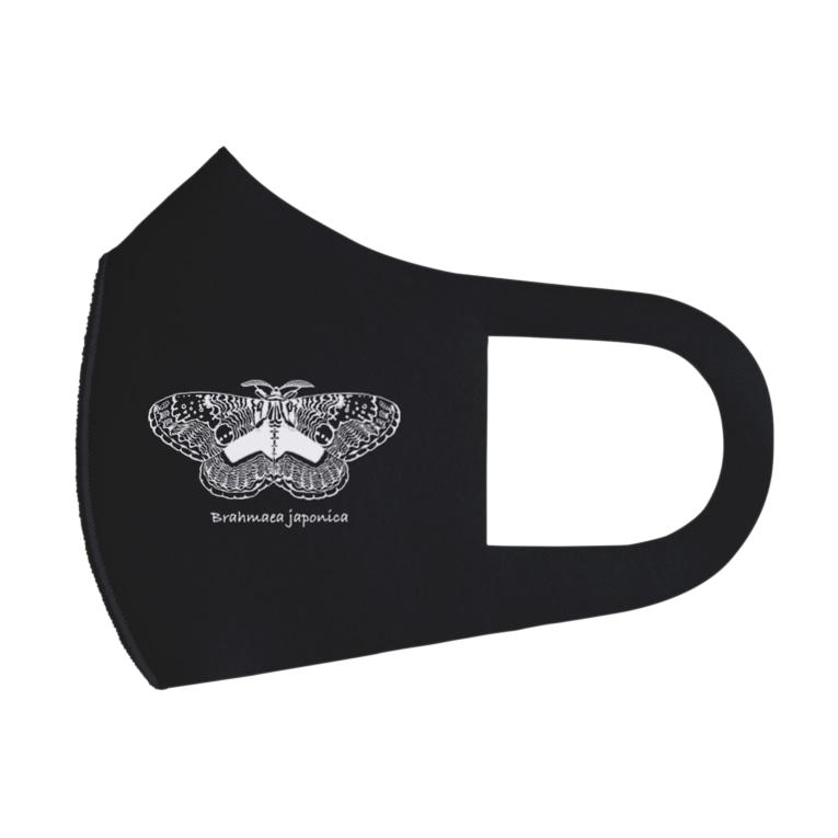 kitaooji shop SUZURI店のBrahmaea japonica white Full Graphic Mask