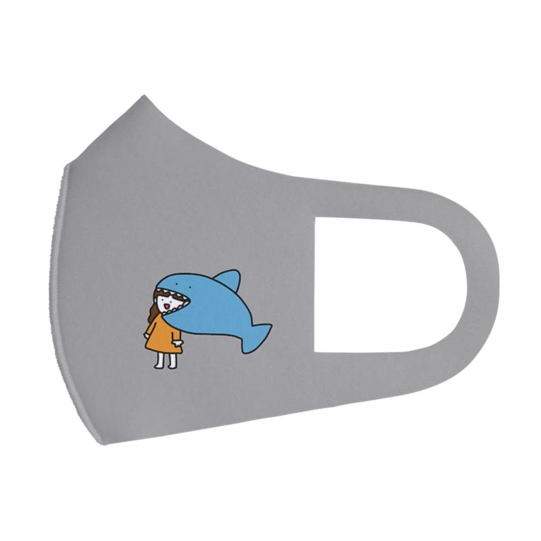 さかもとこのみのグッズやさんのサメに食べられる女の子 Full Graphic Mask