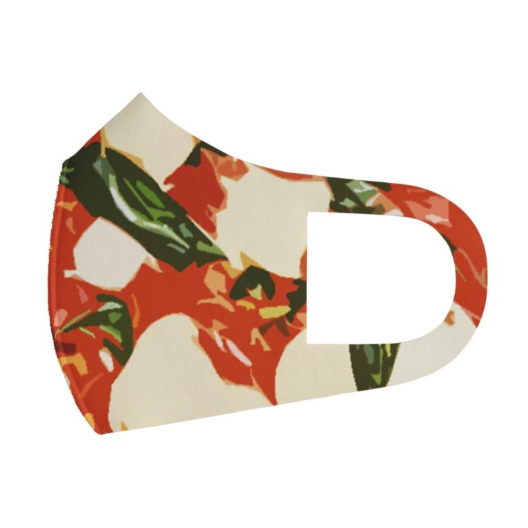 脂身通信Zのピザ_マルゲリータ Full Graphic Mask