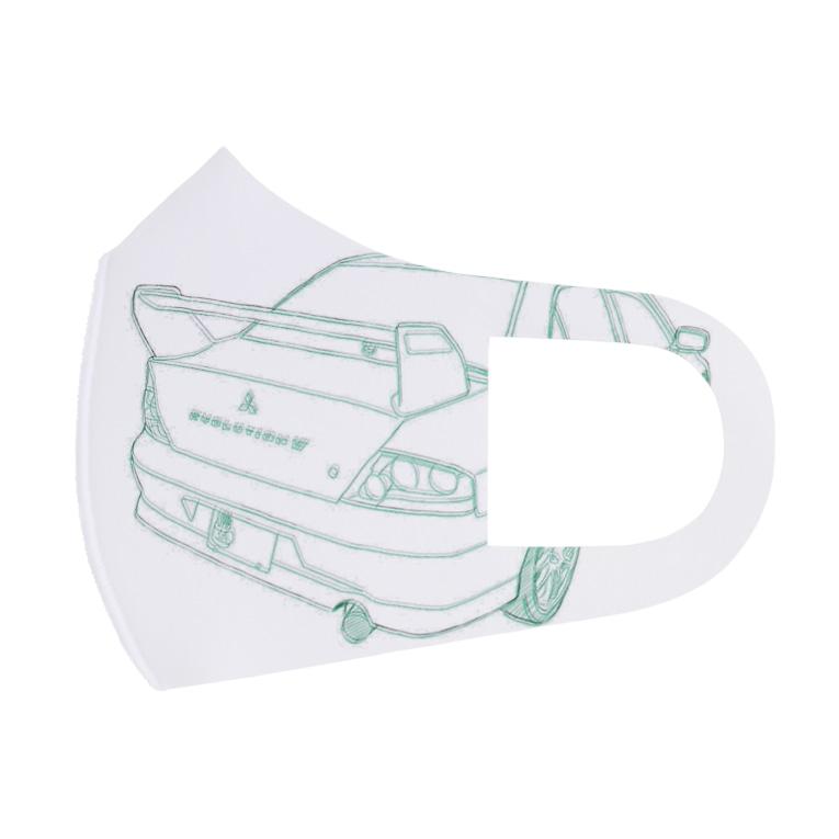 みそぎのえぼ7 Full Graphic Mask