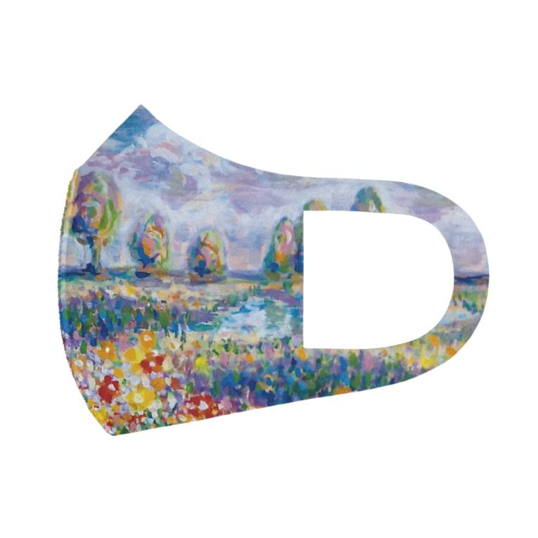 PetWORKs SUZURI Shopの湖畔 Full Graphic Mask