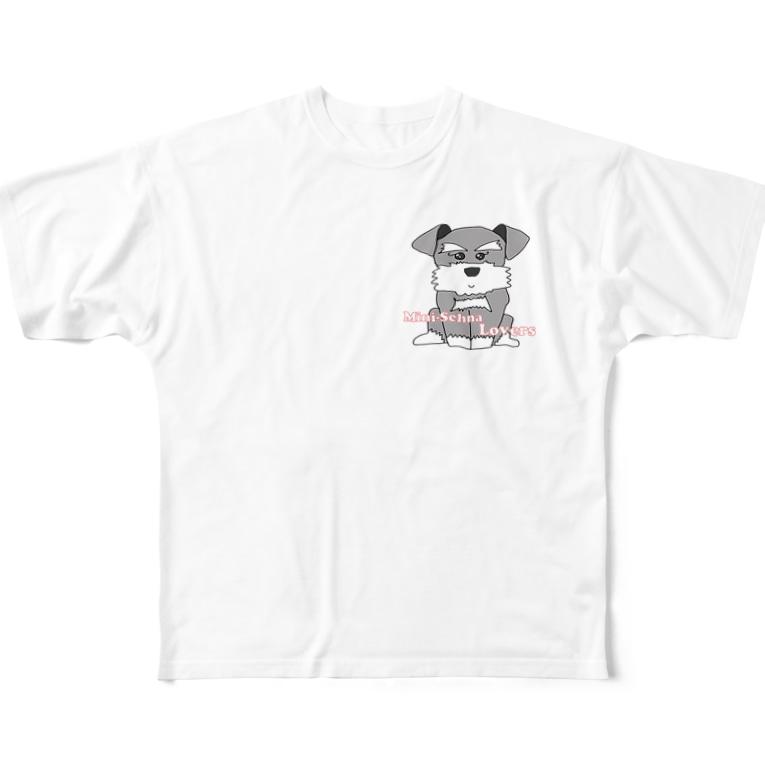 OtoHaru_shopのMini-Schna Lovers Full graphic T-shirts