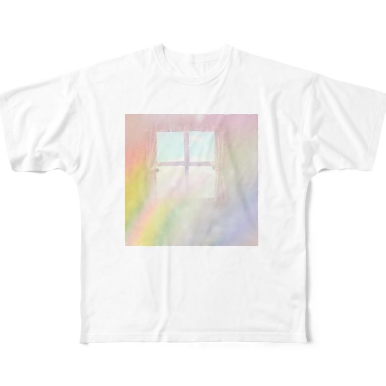 Fumiko💫の虹の窓 Full graphic T-shirts