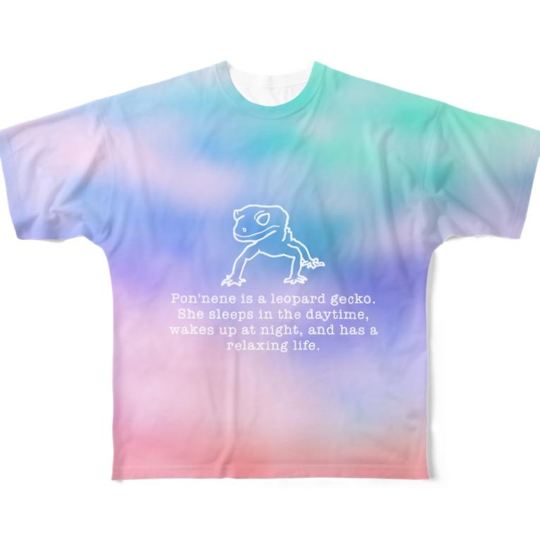 hobotenのポンネネ × 虹 Full Graphic T-Shirt