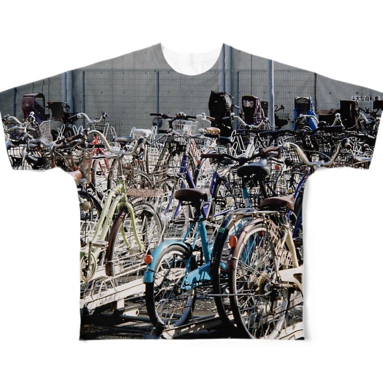 hondayumikaの駐輪場 Full graphic T-shirts