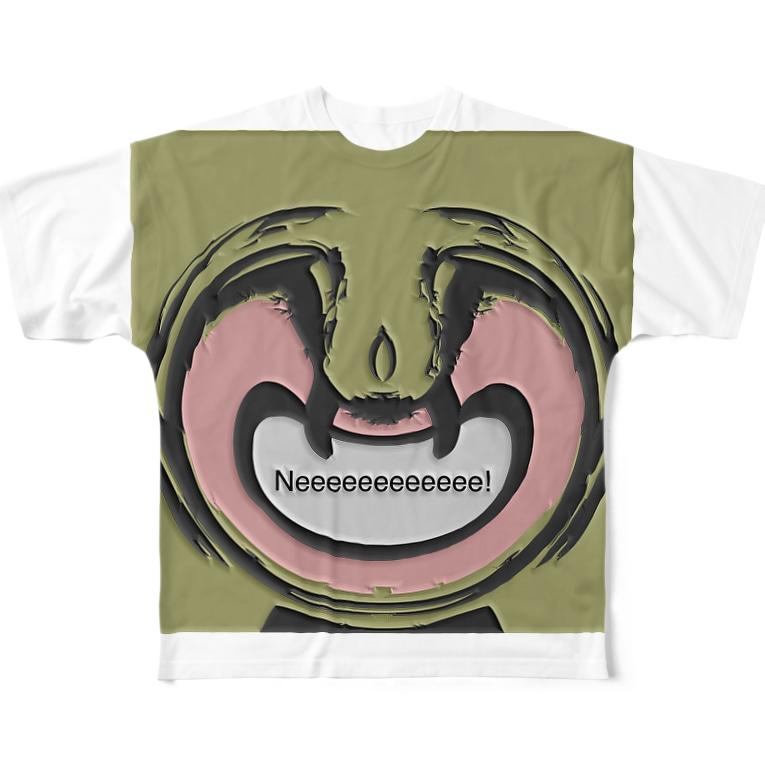 828423の鼻毛将軍 Full graphic T-shirts