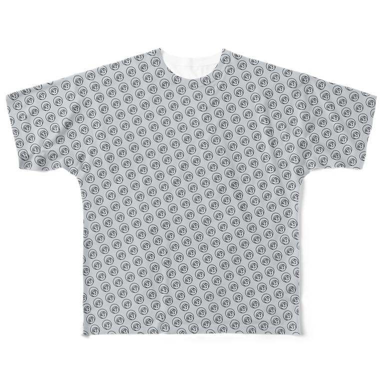 プラネットニッポンのにんじゃこTシャツグレー Full graphic T-shirts