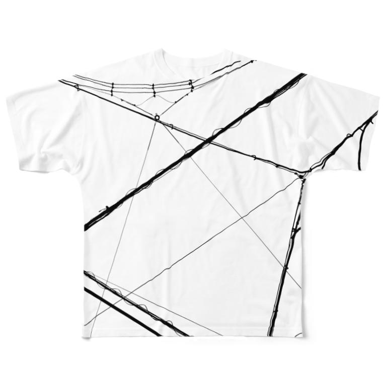 gem's companyの電線2 Full graphic T-shirts