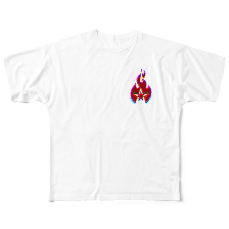 JOKER CROWNのFIRE STAR Full graphic T-shirts