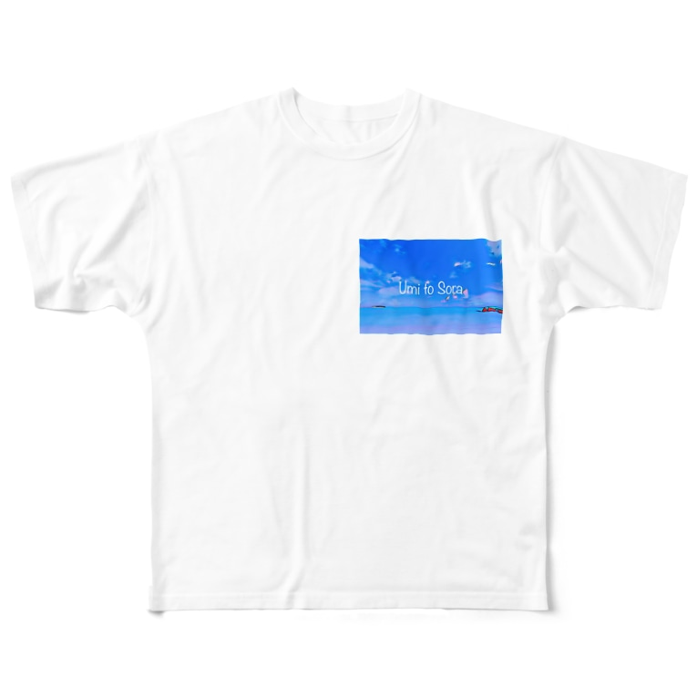 Mr. ICEの海と空(Umi to Sora)グッズ Full graphic T-shirts