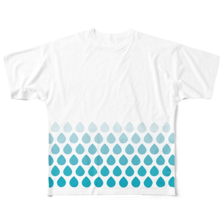 anklelabの涙滴ウロコ ver.2 All-Over Print T-Shirt
