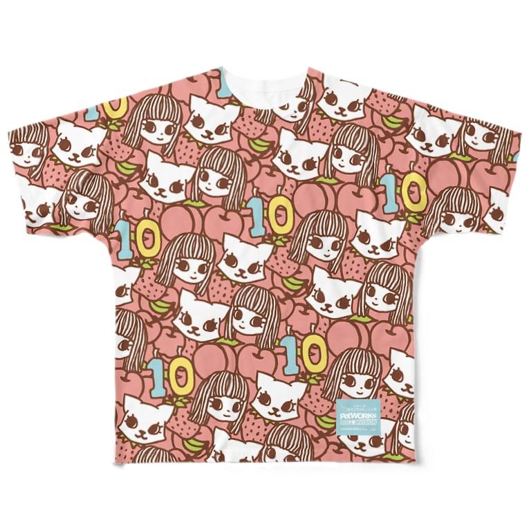 PetWORKs SUZURI Shopのでこニキ10th Full graphic T-shirts