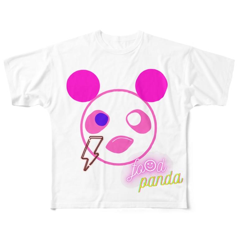 ༺ 🆈🆄🅽 ໘ 🅽🆃🅰༻のふーふーパンダTシャツ Full graphic T-shirts