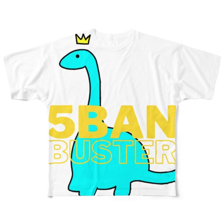 犬小屋の5BANシャツ Full graphic T-shirts