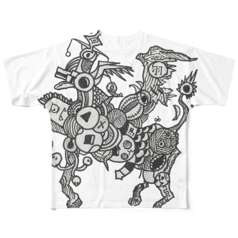 suicideの廃棄ペガサス Full graphic T-shirts