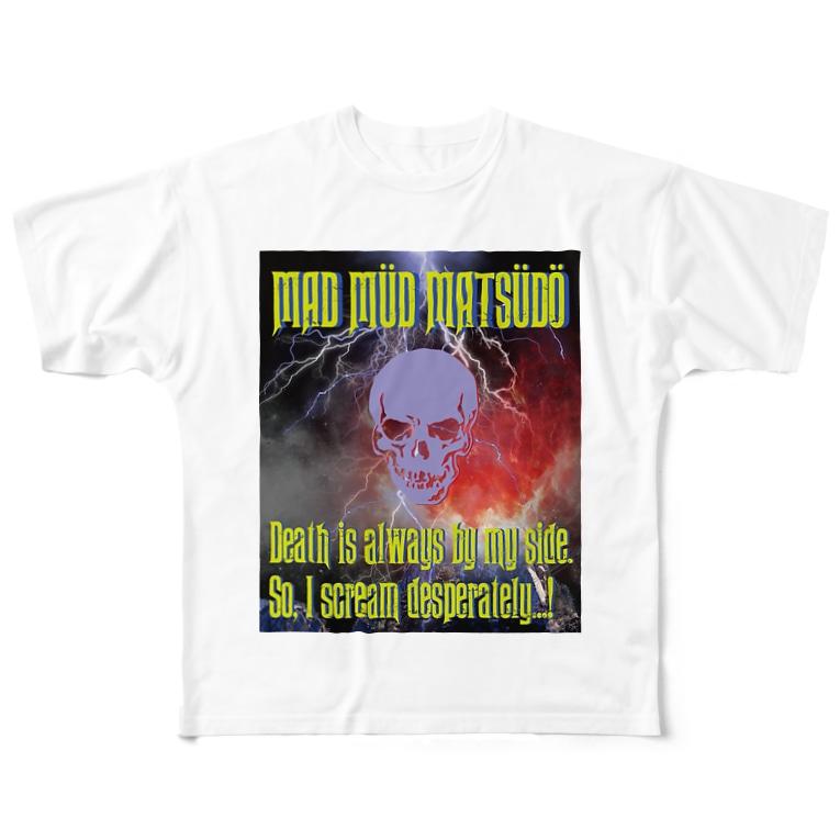 THE BARIUM PILLZのMAD MÜD MATSÜDÖシリーズ Full graphic T-shirts