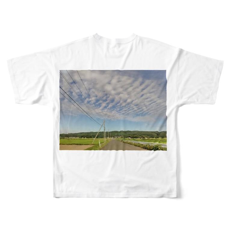 cahaco's shopの田んぼ道 Full graphic T-shirts