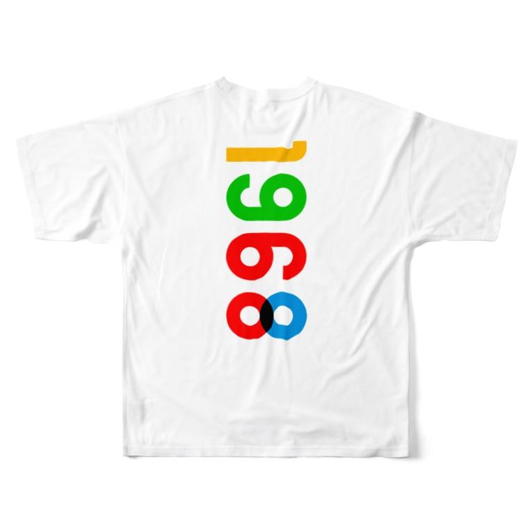 marikiroの1968_西暦 Full graphic T-shirts