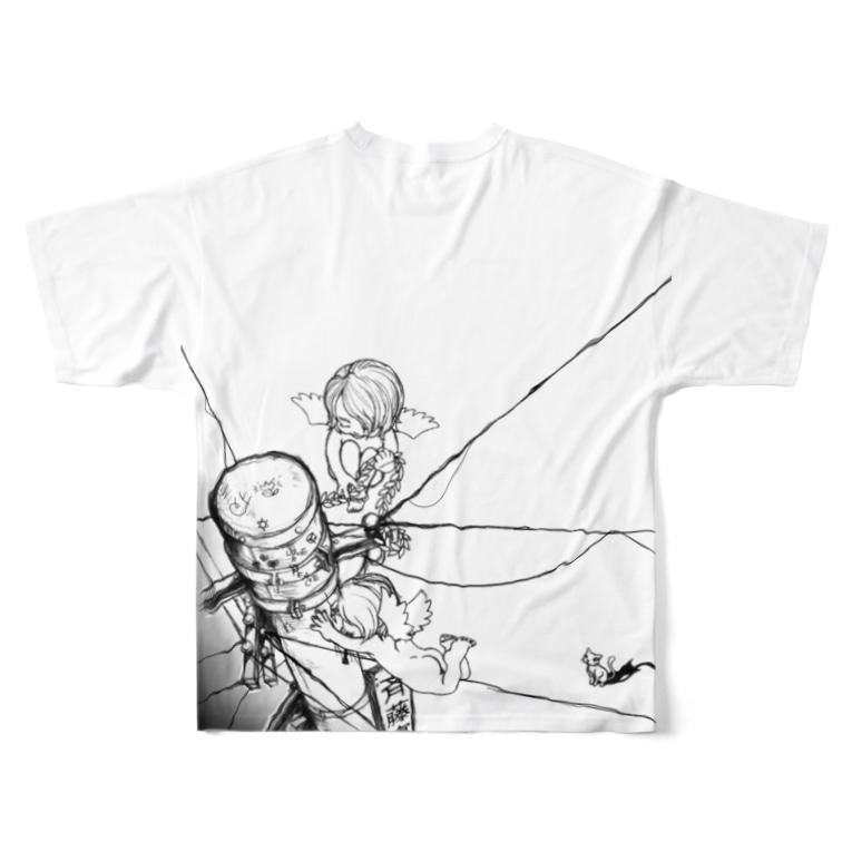 やまだやの電柱と赤子 Full graphic T-shirtsの背面