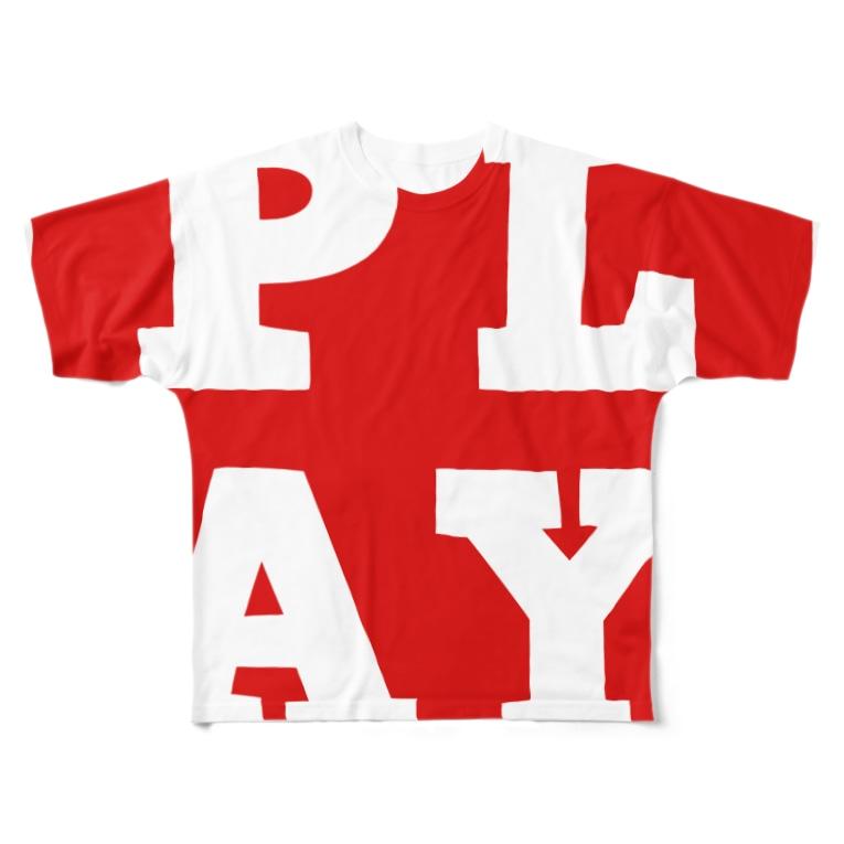 PLAY clothingのPLAY FULL R Full graphic T-shirts