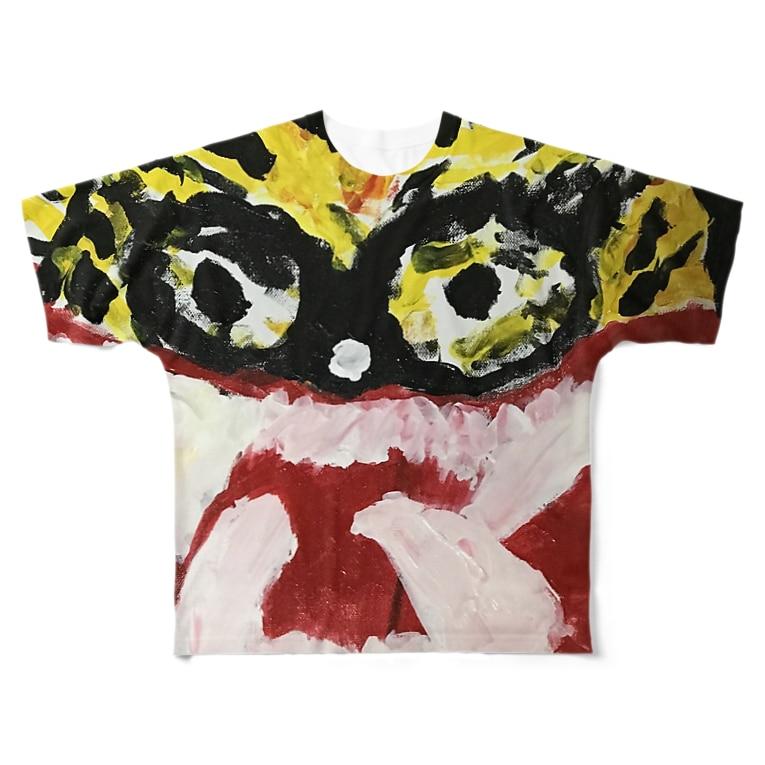 kida_guzzの怒ってる虎 Full graphic T-shirts