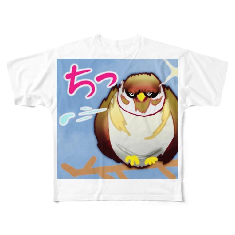 MedicalKUNのチっ、すずめ。 Full graphic T-shirts
