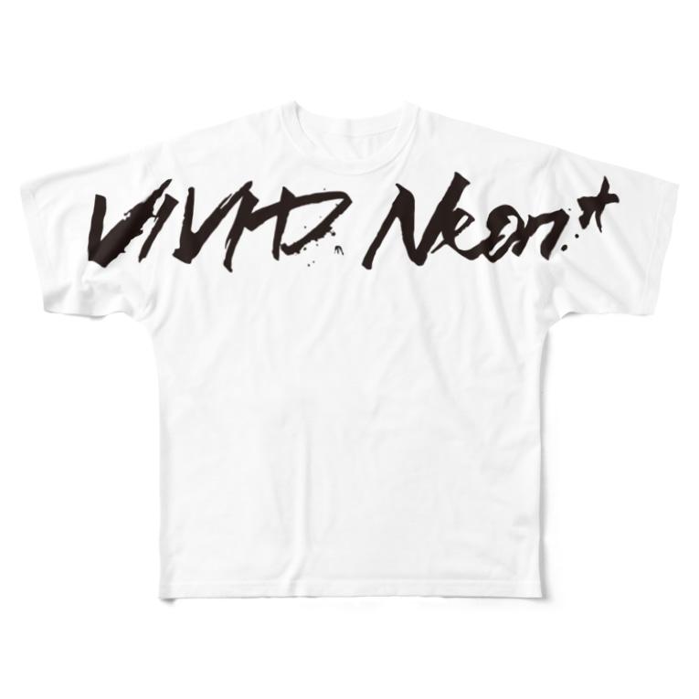 3CH.jpのVIVID Neon*+b Full graphic T-shirts