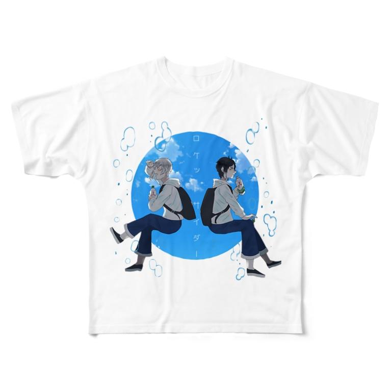 Aa_okomenootooのロケサイしんそぅこく Full graphic T-shirts