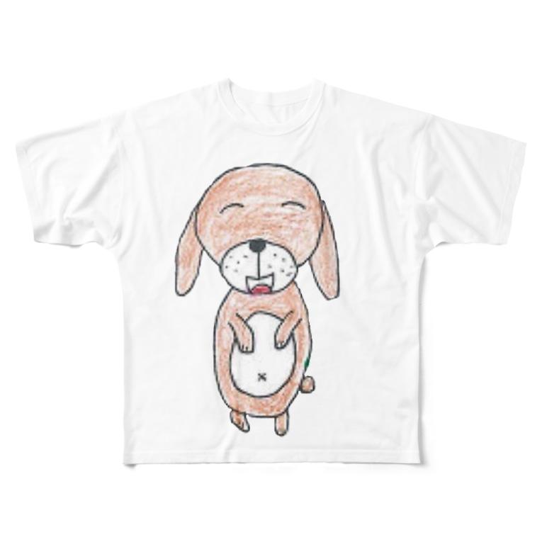 yofhooooのハンギョルくんのお絵描き Full graphic T-shirts