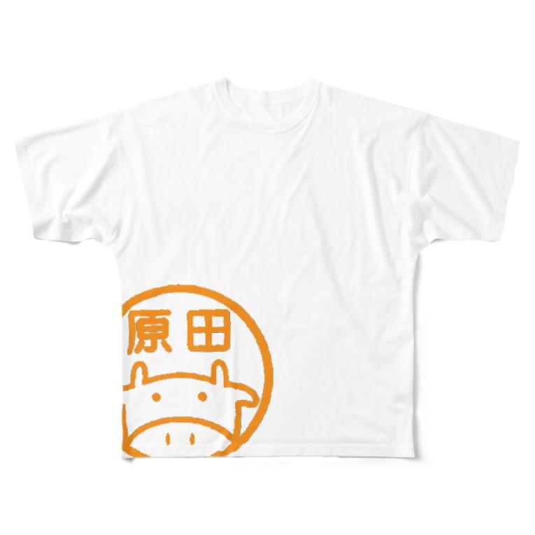 原田精肉店の原田精肉店オフィシャルグッズ Full graphic T-shirts